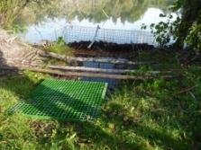 Wrong arranged fence could help to beavers build the dam. © Dana Bartošová, PLA Beskydy